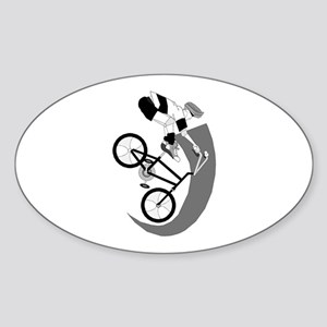 Cycling Oval Sticker