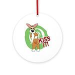 Kiss It Corgi Ornament (Round)