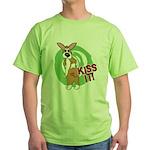 Kiss It Corgi Green T-Shirt
