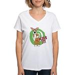 Kiss It Corgi Women's V-Neck T-Shirt
