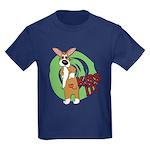 Kiss It Corgi Kids Dark T-Shirt