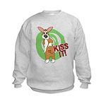 Kiss It Corgi Kids Sweatshirt