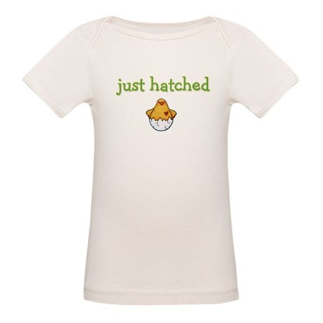 """""""Just Hatched' Chick Organic Baby T-Shirt"""