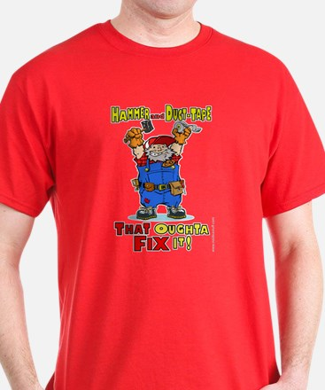 Hammer and duct tape handyman T-Shirt