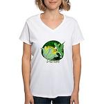 Corgi Fairy Women's V-Neck T-Shirt