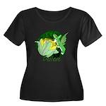 Corgi Fairy Women's Plus Size Scoop Neck Dark T-Sh