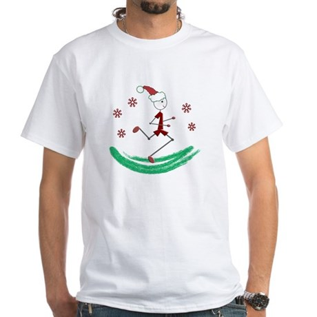 Holiday Runner Guy White T-Shirt