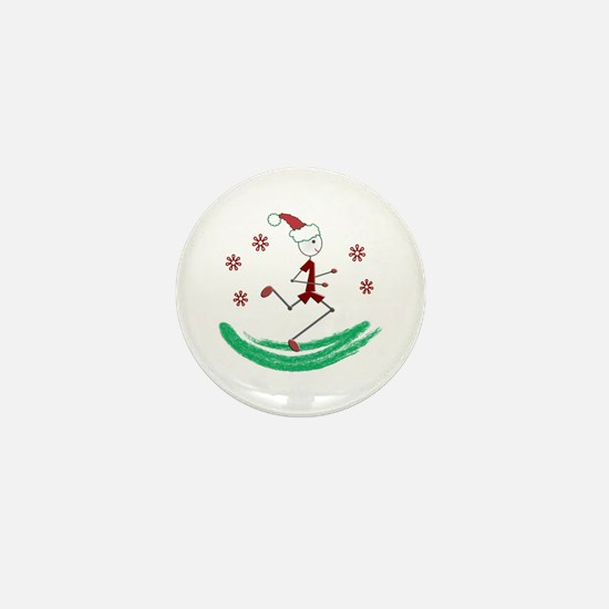 Holiday Runner Guy Mini Button (100 pack)
