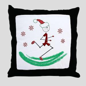 Holiday Runner Guy Throw Pillow