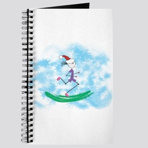 Christmas Holiday Lady Runner Journal