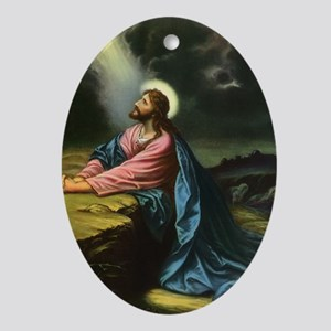 Vintage Jesus Christ Ornament (Oval)