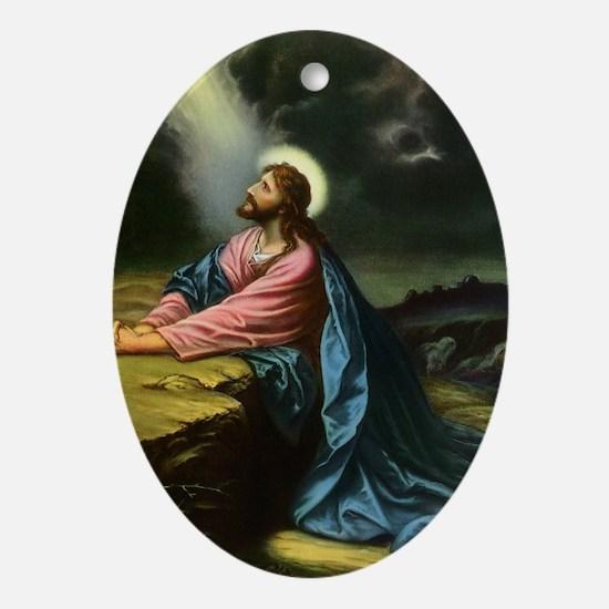 Vintage Jesus Christ Ornament (Oval)
