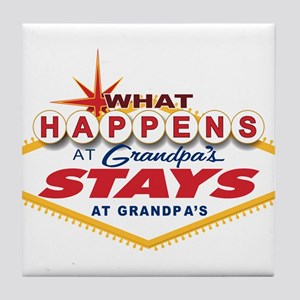 What Happens at Grandpa's Tile Coaster