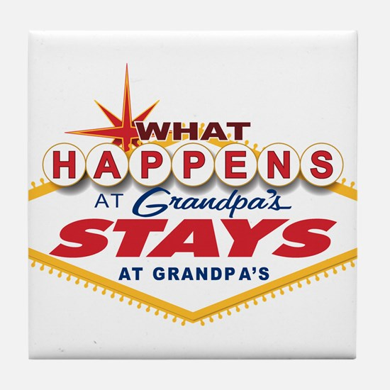 What Happens at Grandpa's Tile Coaster