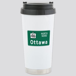 Ottawa, Canada Hwy Sign Stainless Steel Travel Mug