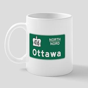 Ottawa, Canada Hwy Sign Mug