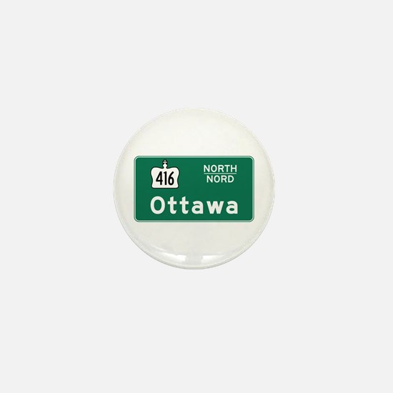 Ottawa, Canada Hwy Sign Mini Button