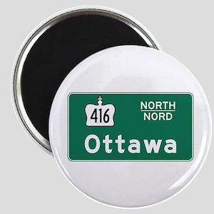 Ottawa, Canada Hwy Sign Magnet