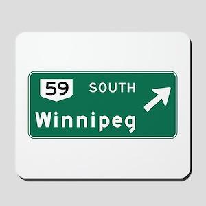 Winnipeg, Canada Hwy Sign Mousepad