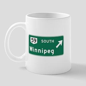 Winnipeg, Canada Hwy Sign Mug