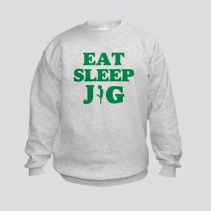 EAT SLEEP JIG Kids Sweatshirt