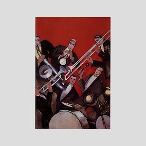 Vintage Music, Art Deco Jazz Rectangle Magnet (10