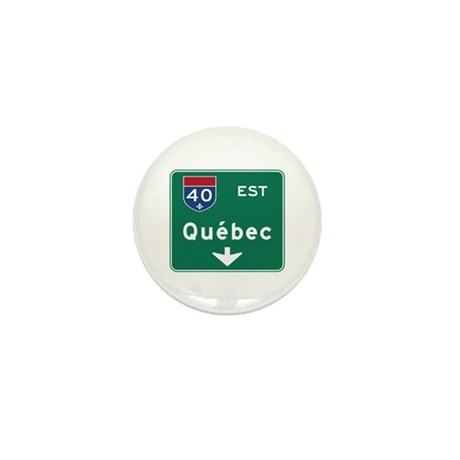 Quebec, Canada Hwy Sign Mini Button (10 pack)