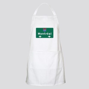 Montreal, Canada Hwy Sign BBQ Apron