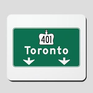 Toronto, Canada Hwy Sign Mousepad
