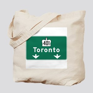 Toronto, Canada Hwy Sign Tote Bag