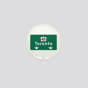Toronto, Canada Hwy Sign Mini Button