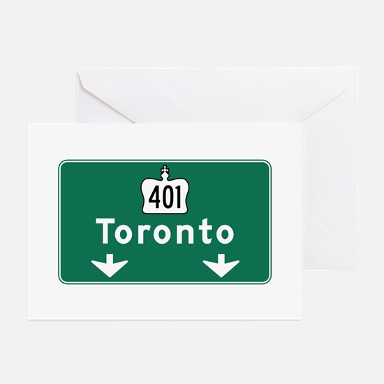 Toronto, Canada Hwy Sign Greeting Cards (Pk of 10)