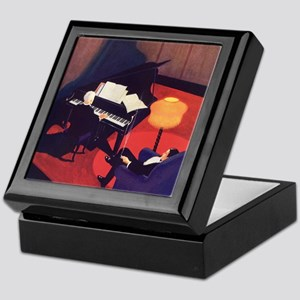 Vintage Music, Piano Keepsake Box