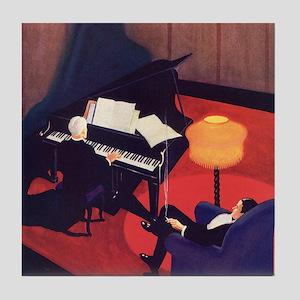 Vintage Music, Piano Tile Coaster
