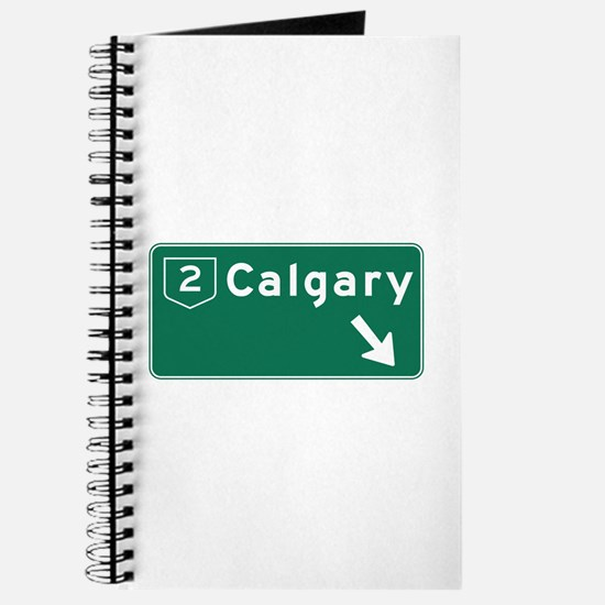 Calgary, Canada Hwy Sign Journal