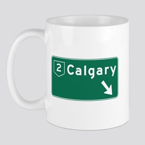 Calgary, Canada Hwy Sign Mug