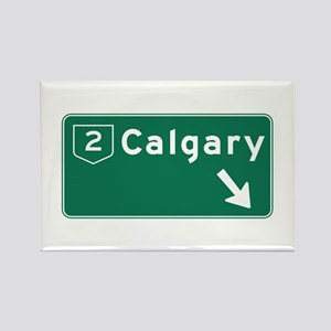 Calgary, Canada Hwy Sign Rectangle Magnet