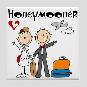 Stick Figure Honeymooner Tile Coaster