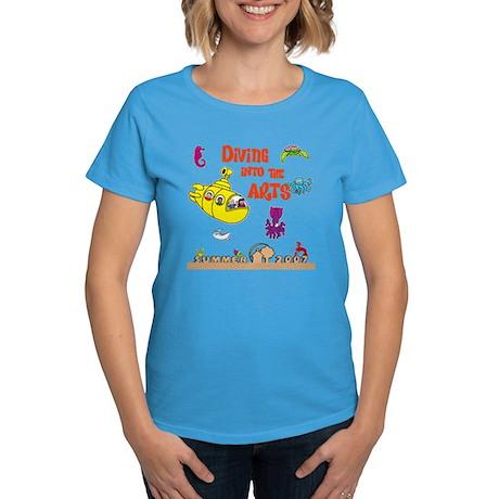 Diving into the Arts Women's Light Blue T-Shirt