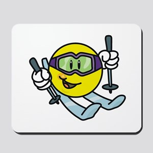 Smile Face Skiing Mousepad