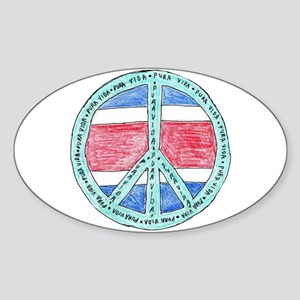 Pure Life Oval Sticker