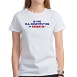 U.S. Constitution Missing? 2-sided Women's T