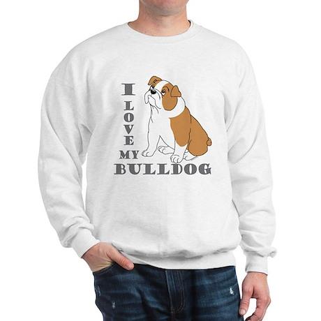 Bulldog, Eng. (Brn&wht) Sweatshirt