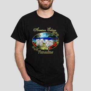 American Eskimo Paradise Black T-Shirt