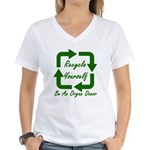 Recycle Yourself Women's V-Neck T-Shirt