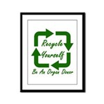 Recycle Yourself Framed Panel Print