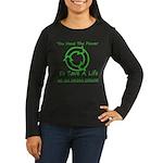 Power To Save Women's Long Sleeve Dark T-Shirt