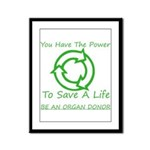 Power To Save Framed Panel Print