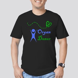 Organ Donor Men's Fitted T-Shirt (dark)