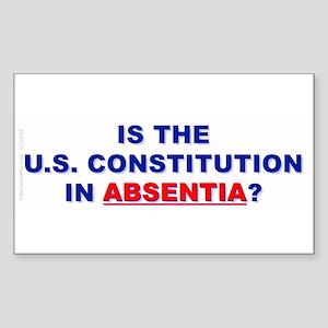 U.S. Constitution Missing? (Rectangle Sticker)